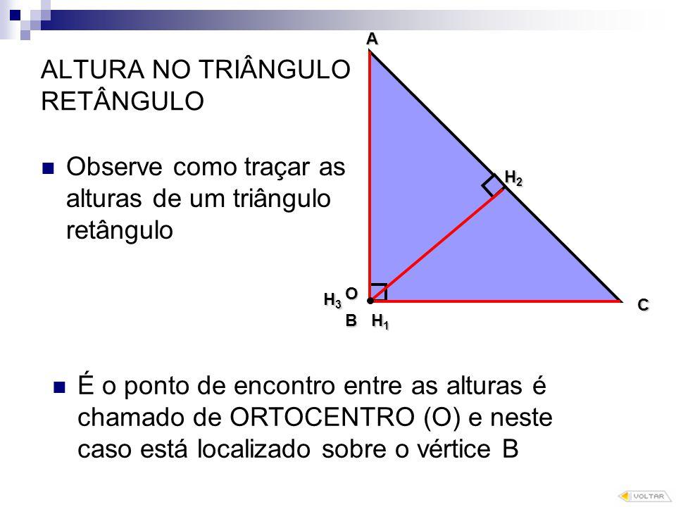 ALTURA NO TRIÂNGULO RETÂNGULO
