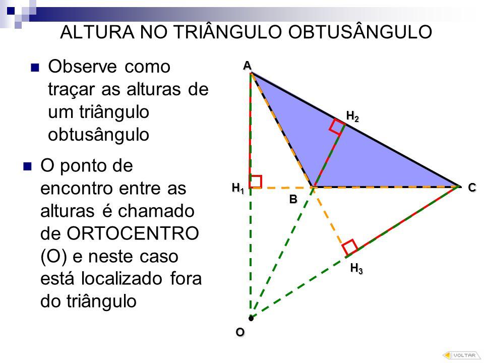 ALTURA NO TRIÂNGULO OBTUSÂNGULO