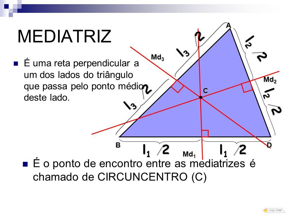 MEDIATRIZ l3 /2 l2 /2 l3 /2 l2 /2 l1 /2 l1 /2