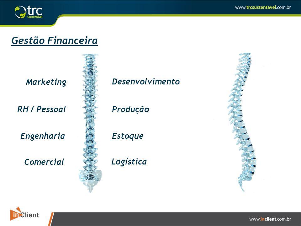 Gestão Financeira Marketing Desenvolvimento RH / Pessoal Produção