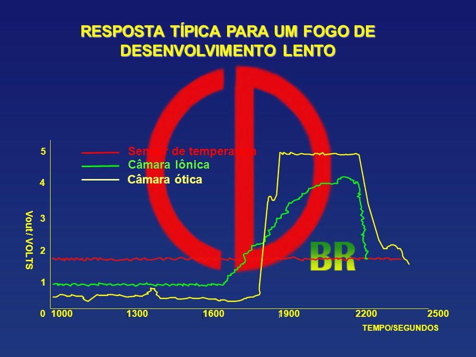 RESPOSTA TÍPICA PARA UM FOGO DE DESENVOLVIMENTO LENTO