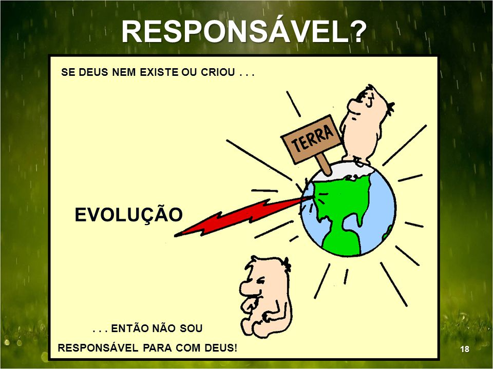 RESPONSÁVEL PARA COM DEUS!