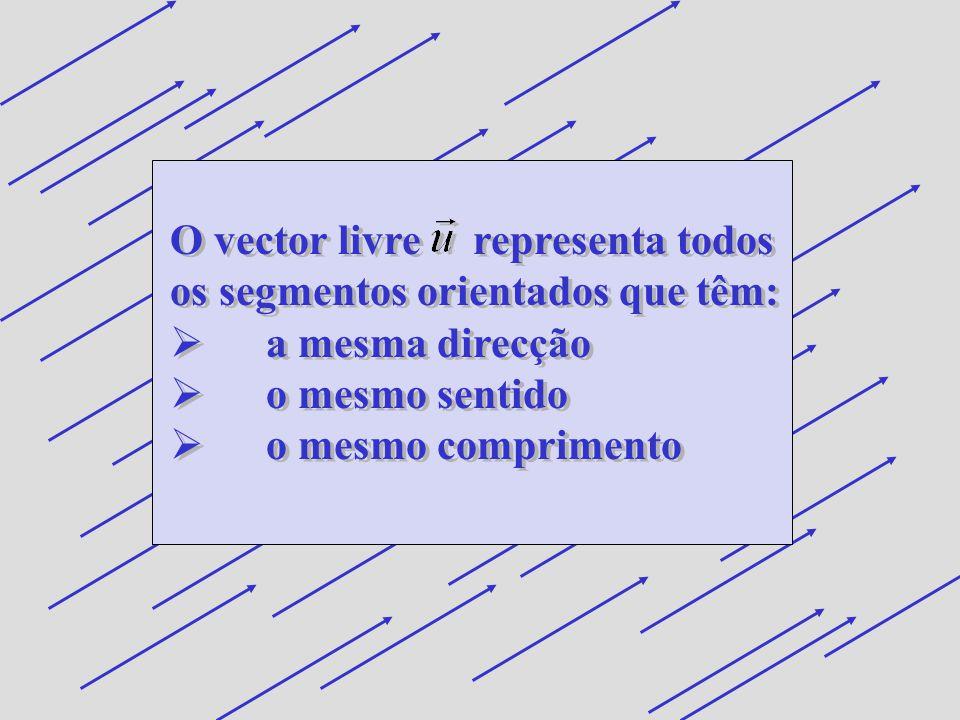 O vector livre representa todos