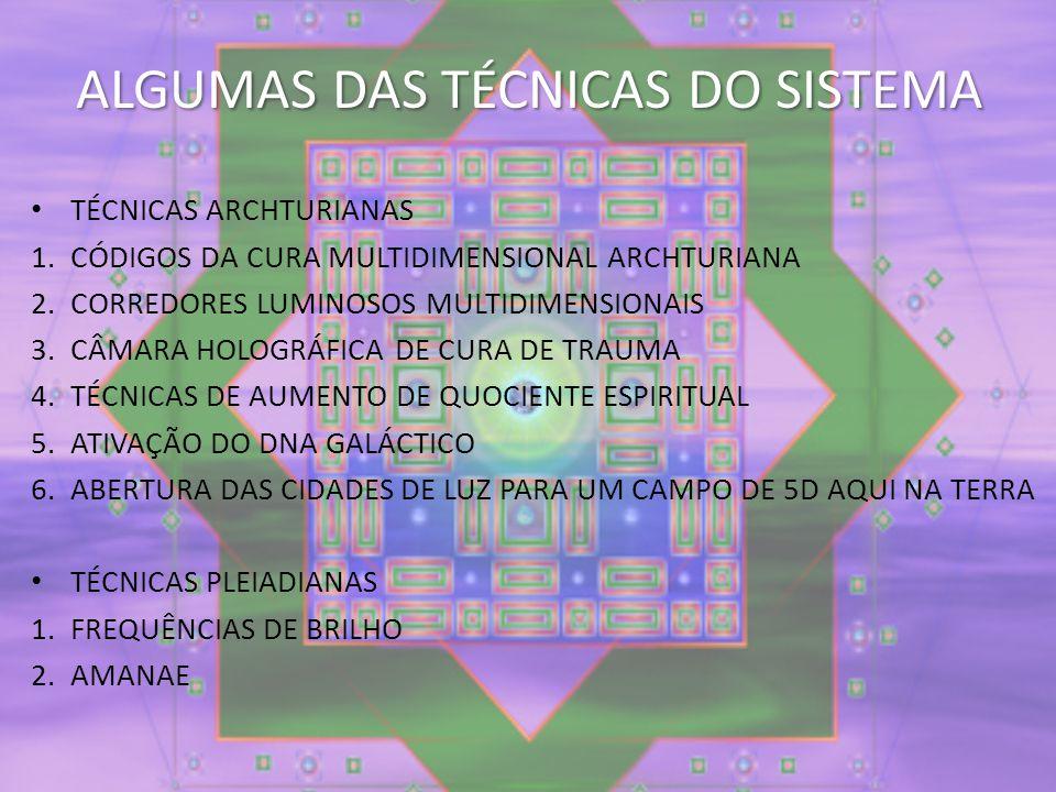 ALGUMAS DAS TÉCNICAS DO SISTEMA