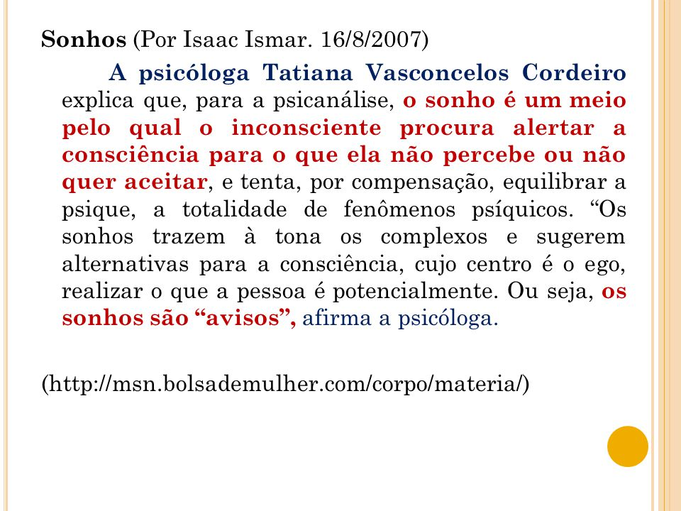 Sonhos (Por Isaac Ismar