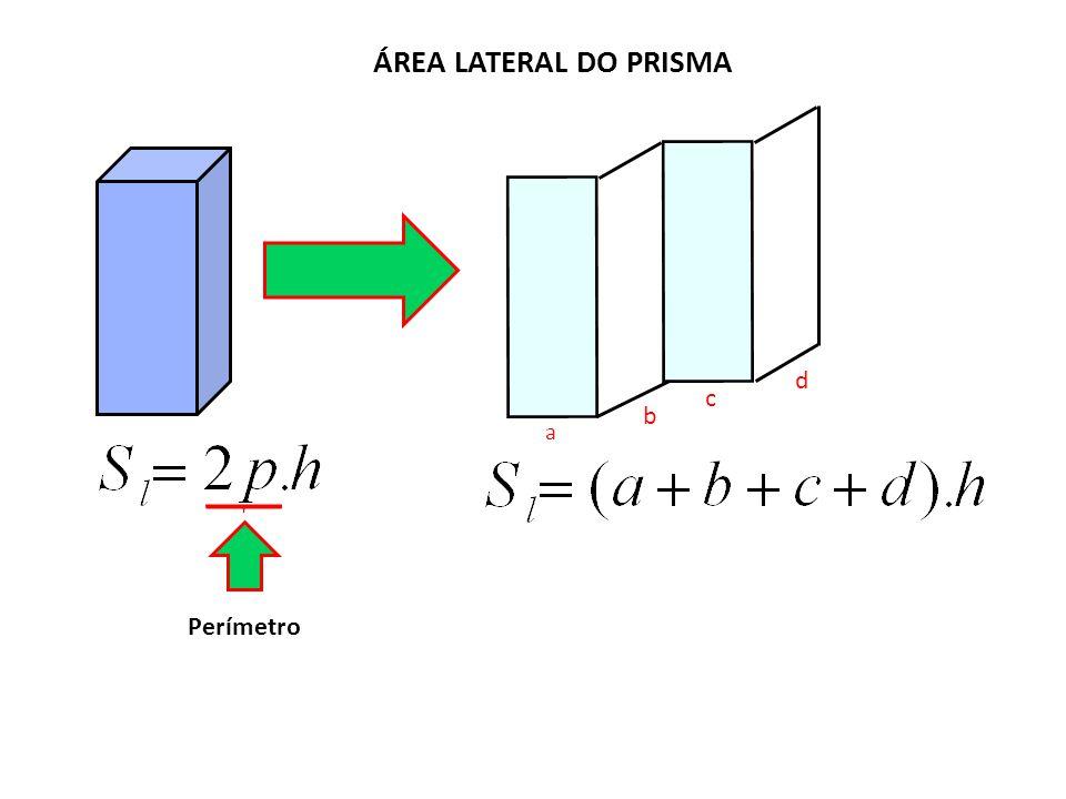 ÁREA LATERAL DO PRISMA a b c d Perímetro