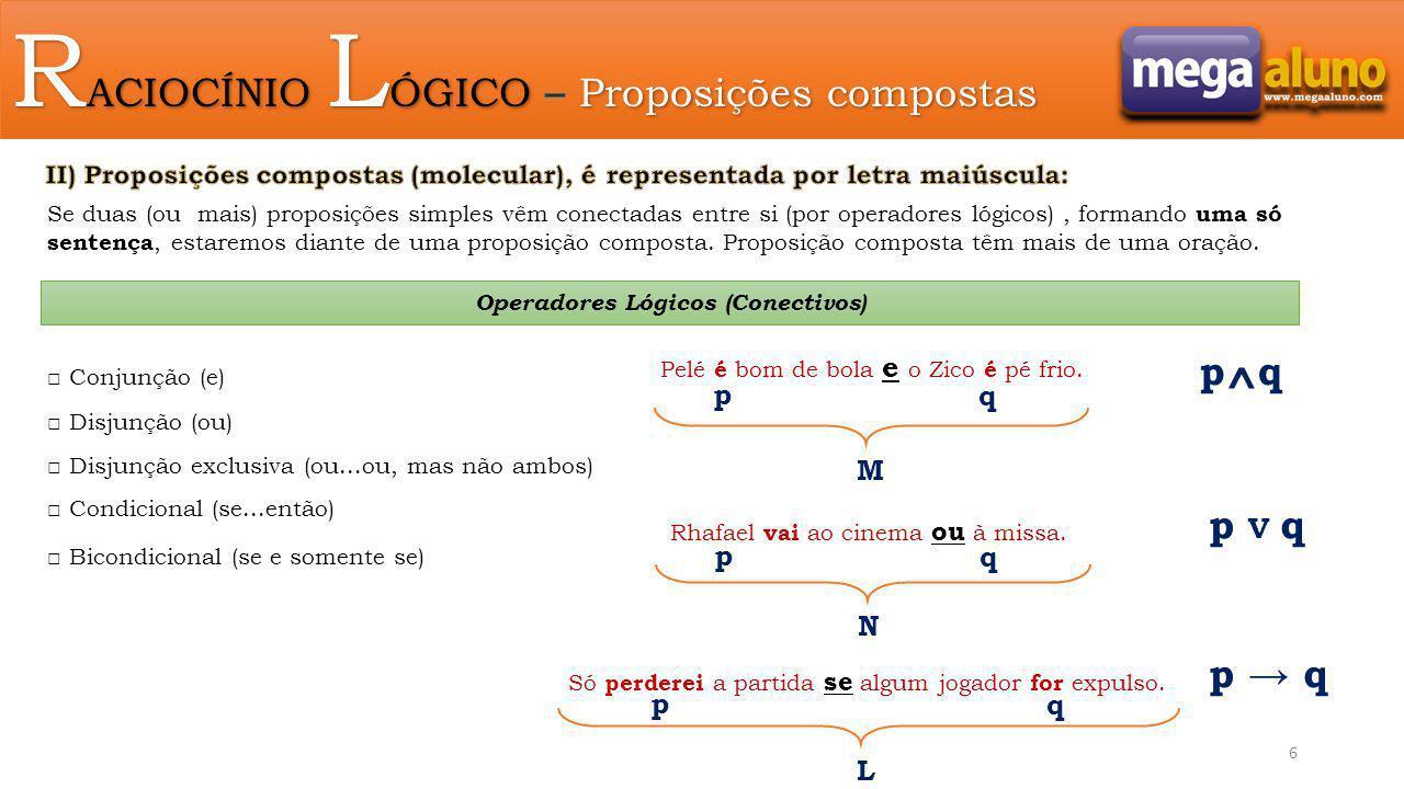Operadores Lógicos (Conectivos)