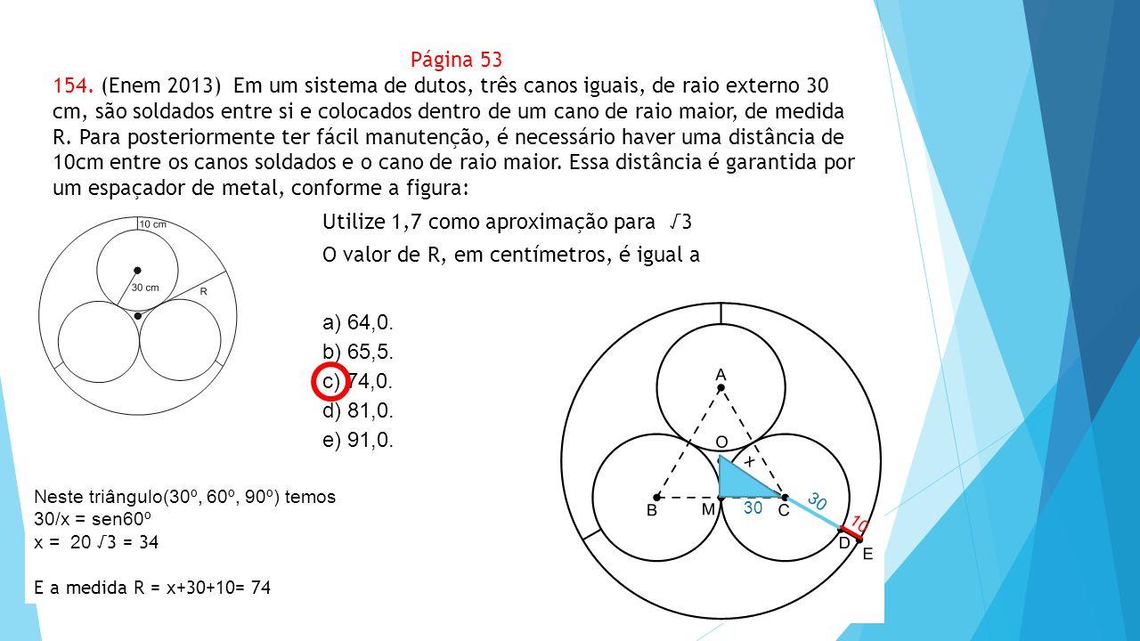 Utilize 1,7 como aproximação para √3