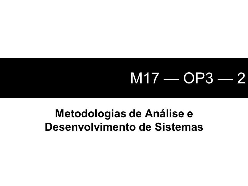 Metodologias de Análise e Desenvolvimento de Sistemas