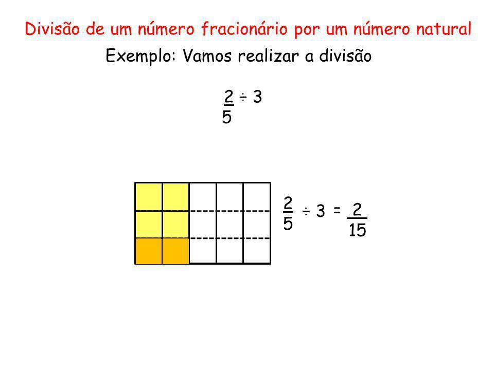 Divisão de um número fracionário por um número natural