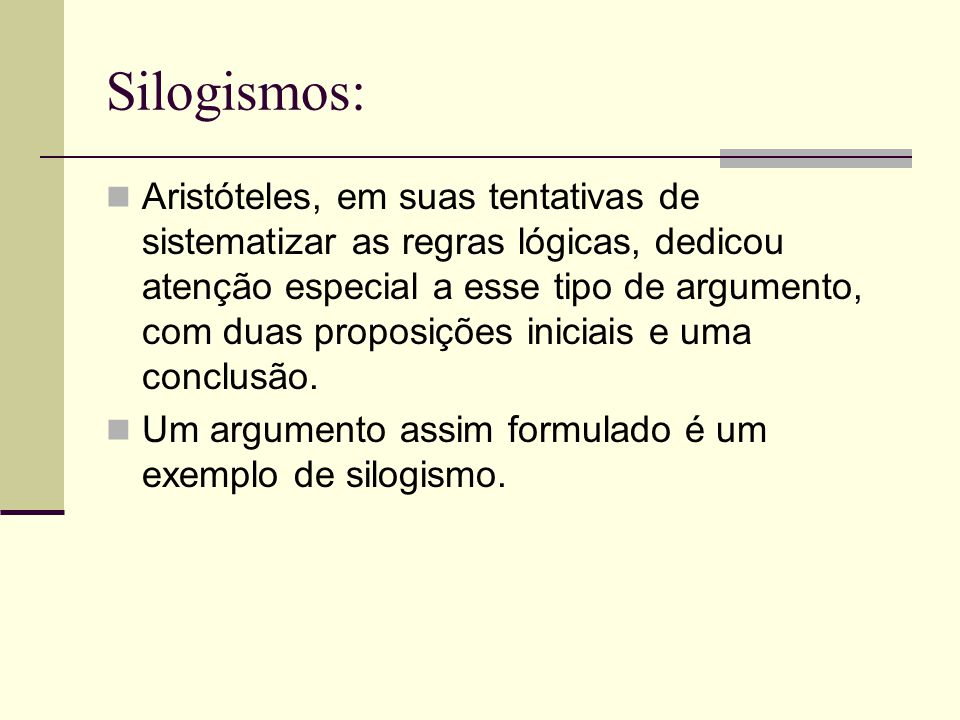 Silogismos: