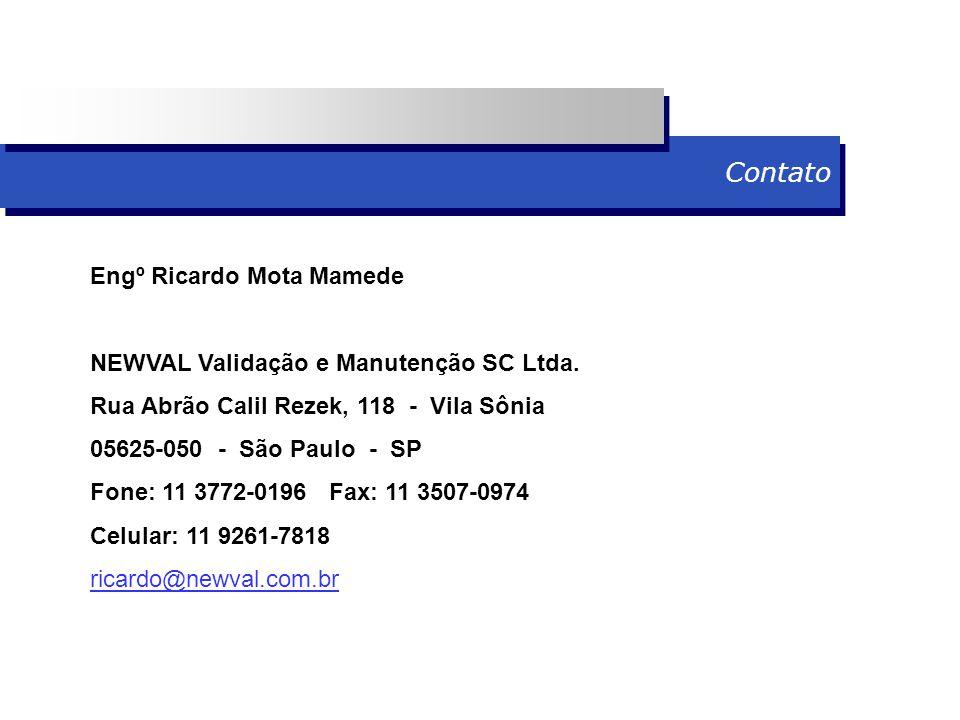 Contato Engº Ricardo Mota Mamede