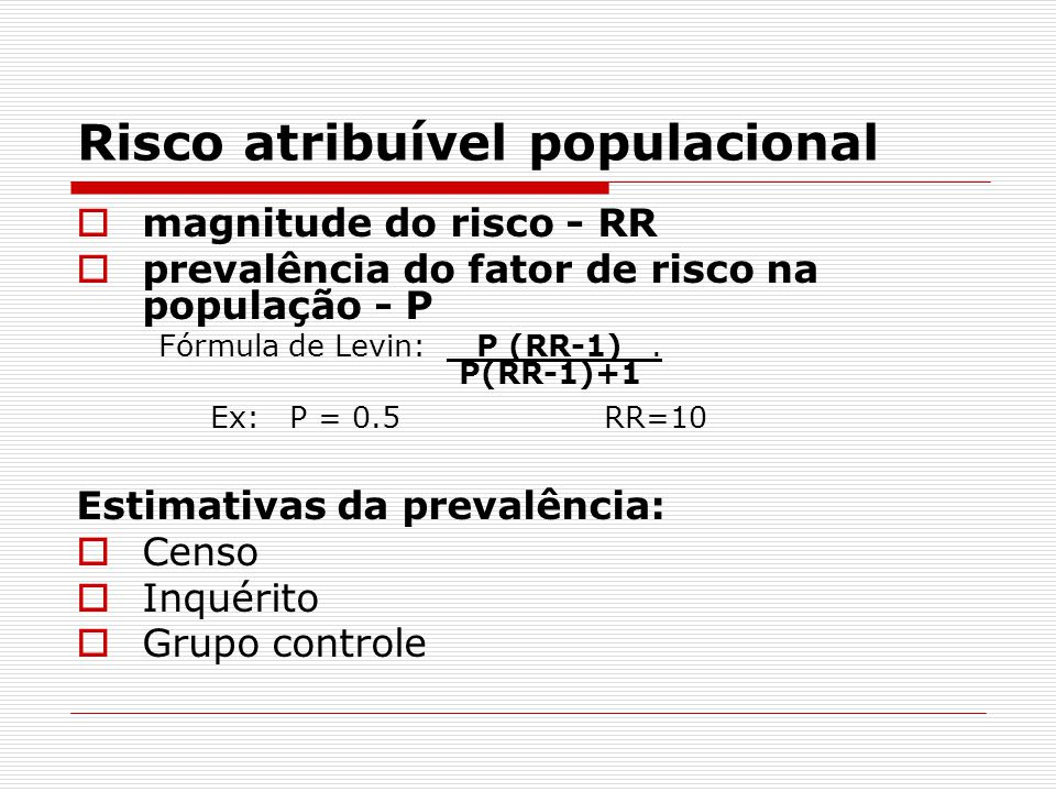 Risco atribuível populacional