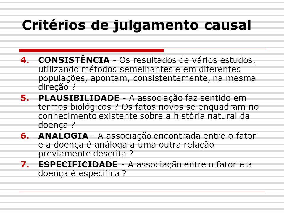 Critérios de julgamento causal