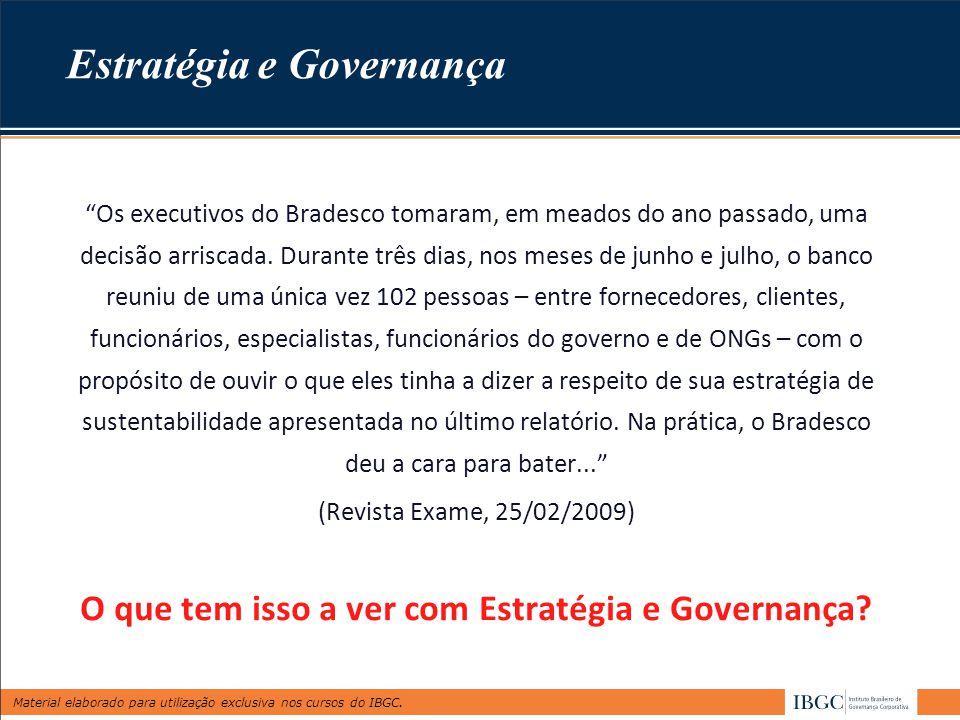 Estratégia e Governança