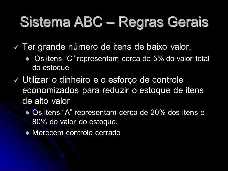 Sistema ABC – Regras Gerais