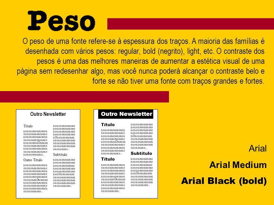 Arial Arial Medium Arial Black (bold)