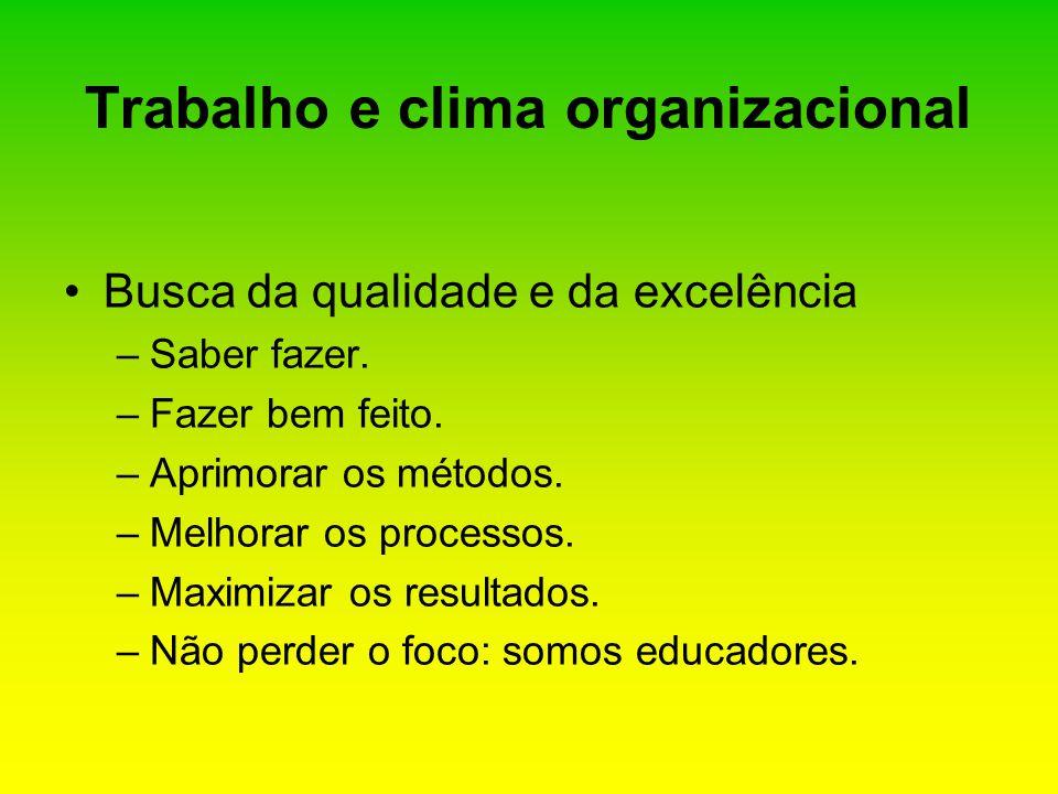 Trabalho e clima organizacional
