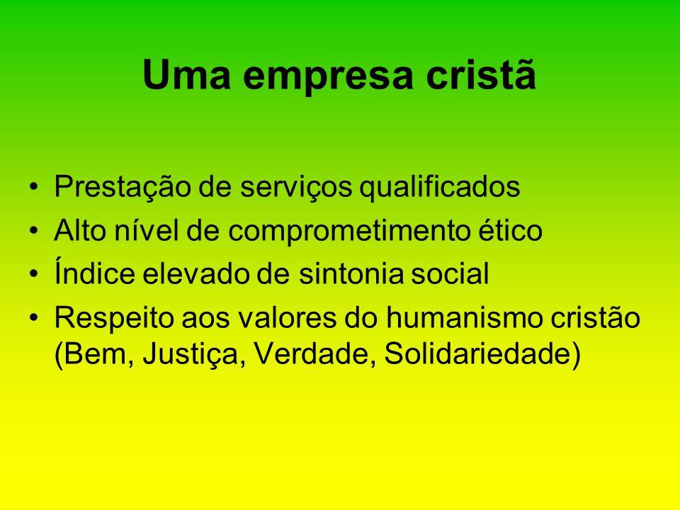 Uma empresa cristã Prestação de serviços qualificados