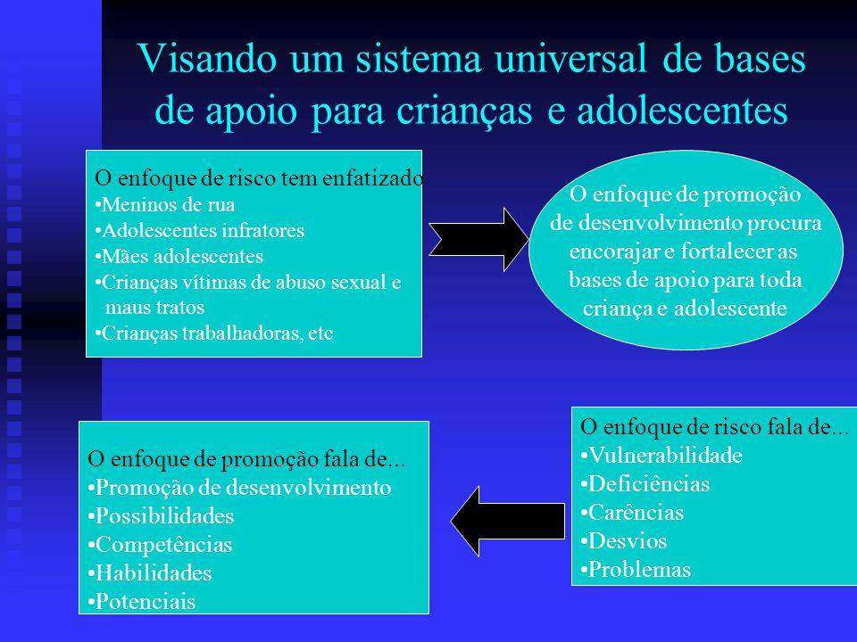 Visando um sistema universal de bases de apoio para crianças e adolescentes