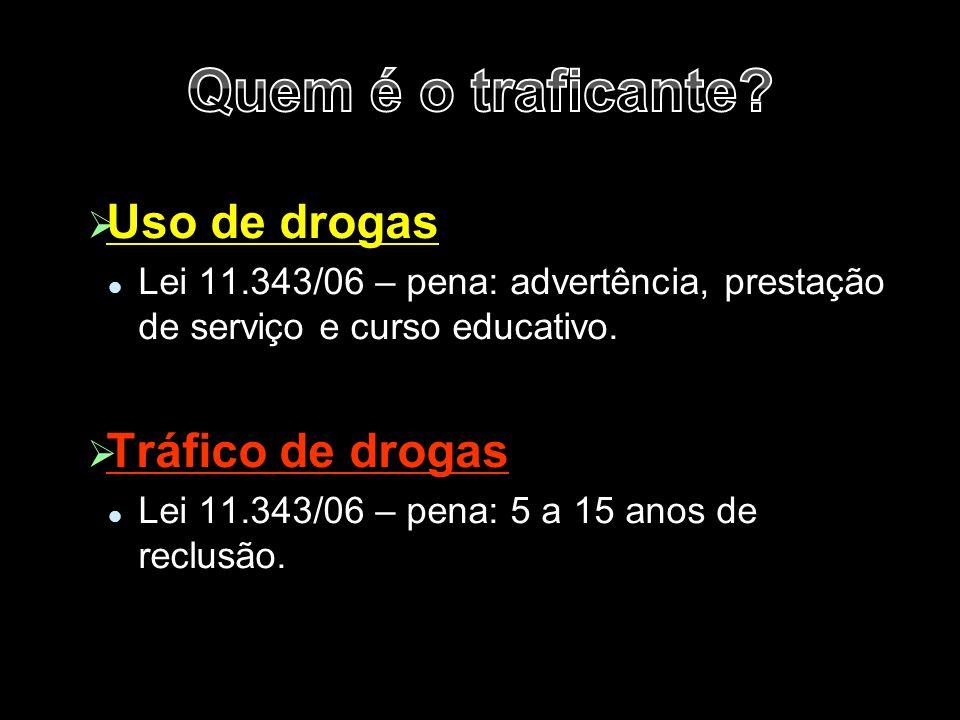 Quem é o traficante Uso de drogas Tráfico de drogas