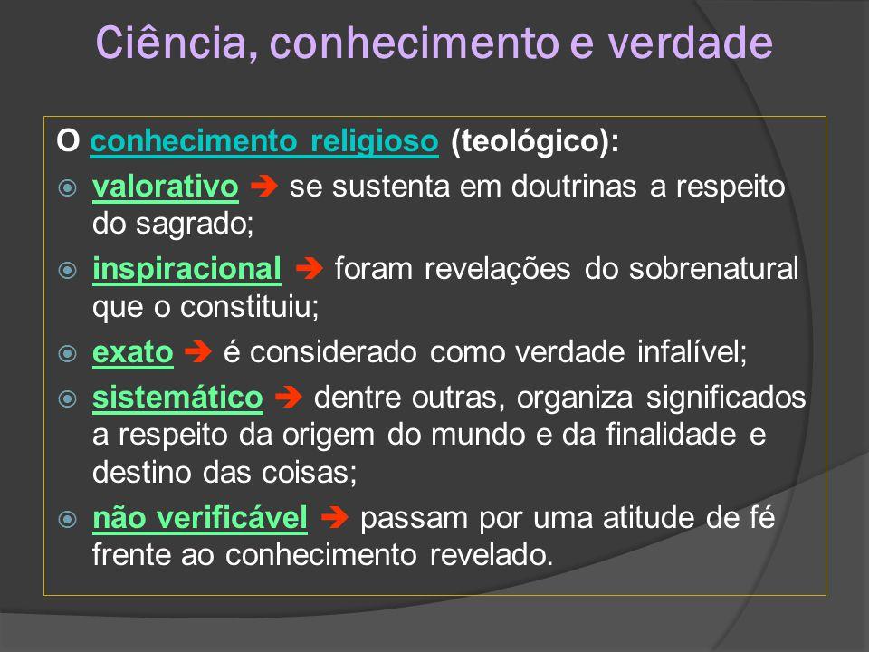 Ciência, conhecimento e verdade