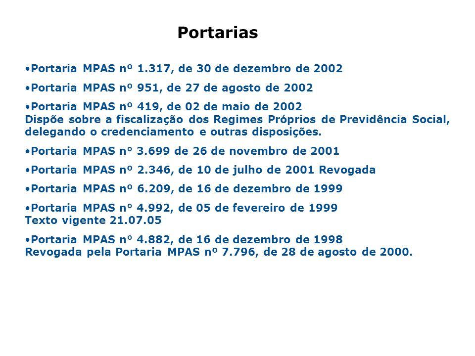 Portarias Portaria MPAS nº 1.317, de 30 de dezembro de 2002