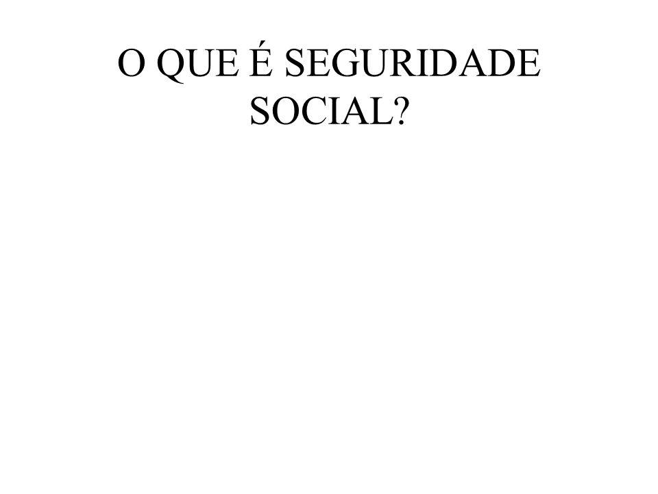O QUE É SEGURIDADE SOCIAL