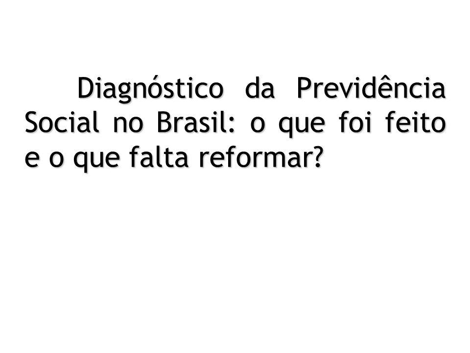Diagnóstico da Previdência Social no Brasil: o que foi feito e o que falta reformar