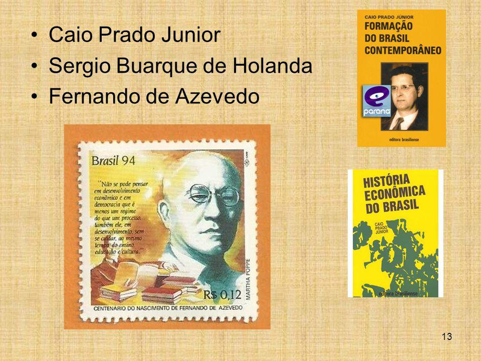 Caio Prado Junior Sergio Buarque de Holanda Fernando de Azevedo