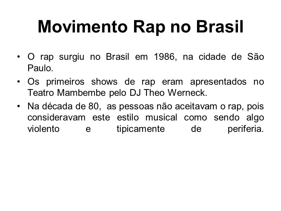 Movimento Rap no Brasil