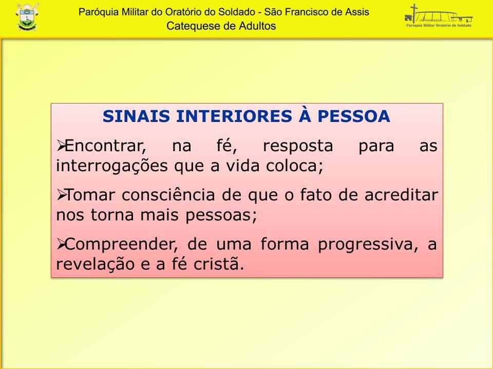 SINAIS INTERIORES À PESSOA