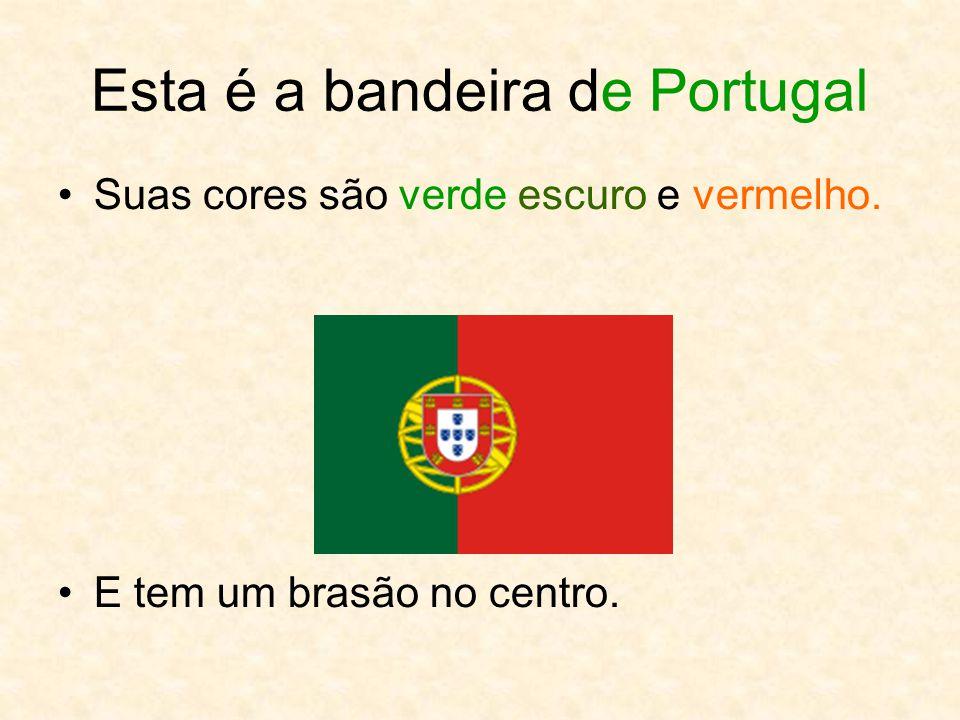 Esta é a bandeira de Portugal