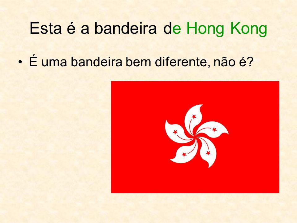Esta é a bandeira de Hong Kong