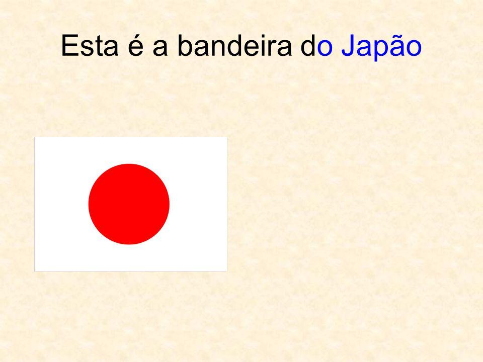 Esta é a bandeira do Japão