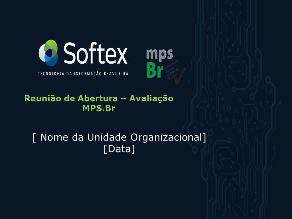 Reunião de Abertura – Avaliação MPS.Br