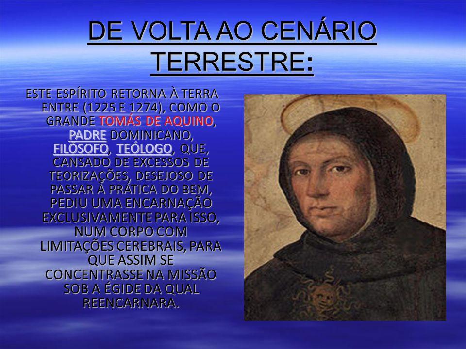 DE VOLTA AO CENÁRIO TERRESTRE: