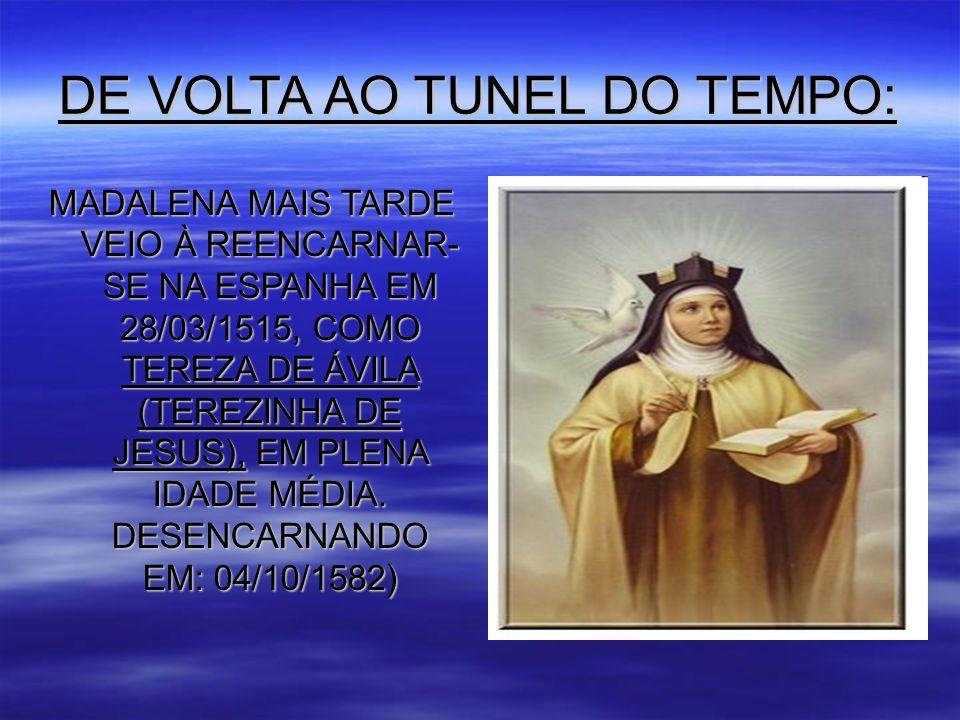 DE VOLTA AO TUNEL DO TEMPO: