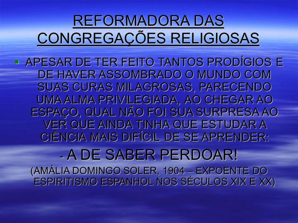REFORMADORA DAS CONGREGAÇÕES RELIGIOSAS