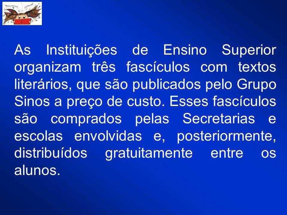 As Instituições de Ensino Superior organizam três fascículos com textos literários, que são publicados pelo Grupo Sinos a preço de custo.