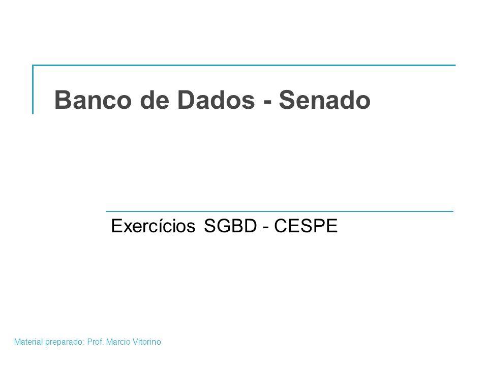 Exercícios SGBD - CESPE