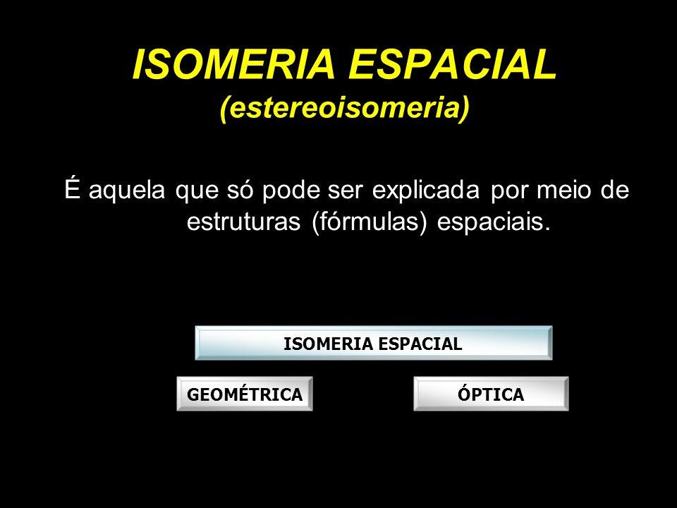 ISOMERIA ESPACIAL (estereoisomeria)