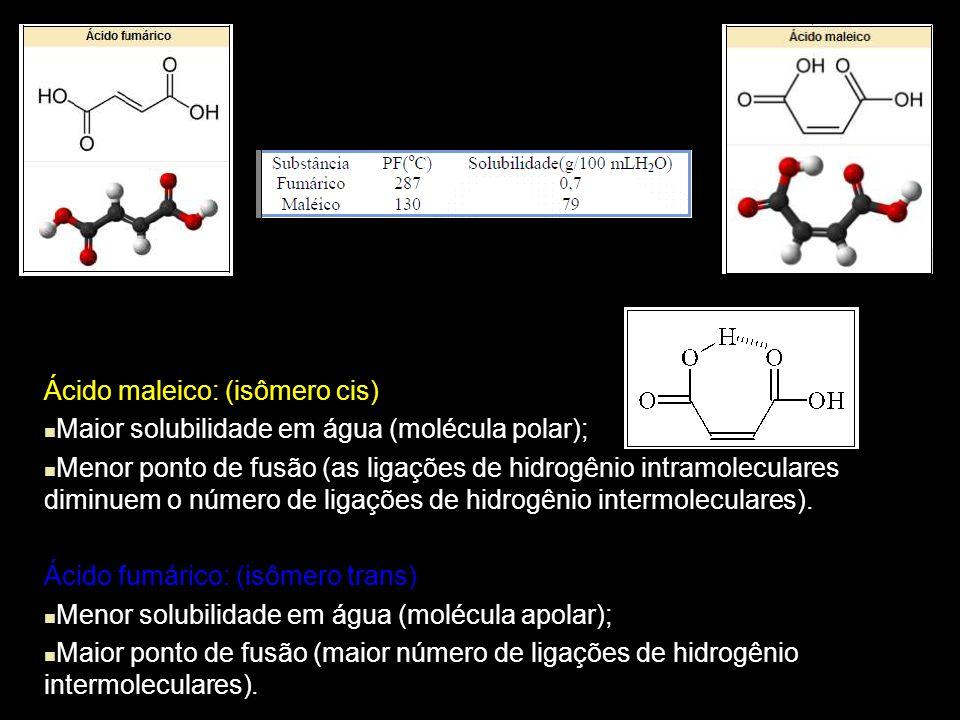 Ácido maleico: (isômero cis)