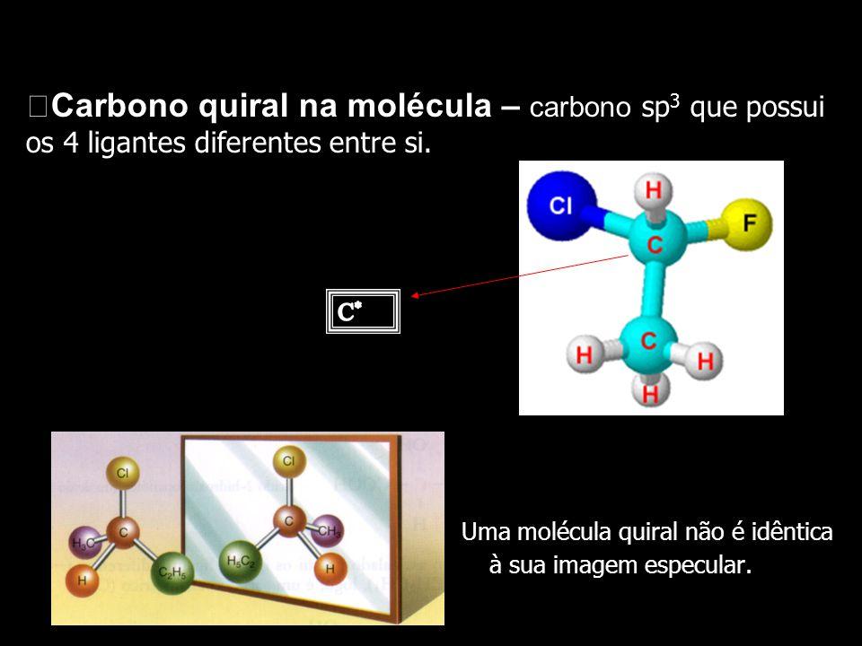 Uma molécula quiral não é idêntica