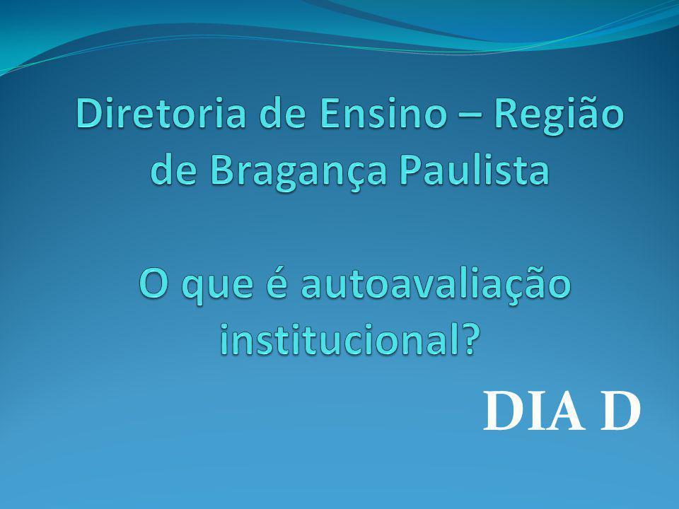Diretoria de Ensino – Região de Bragança Paulista O que é autoavaliação institucional