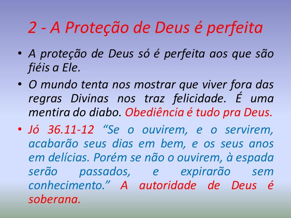 2 - A Proteção de Deus é perfeita