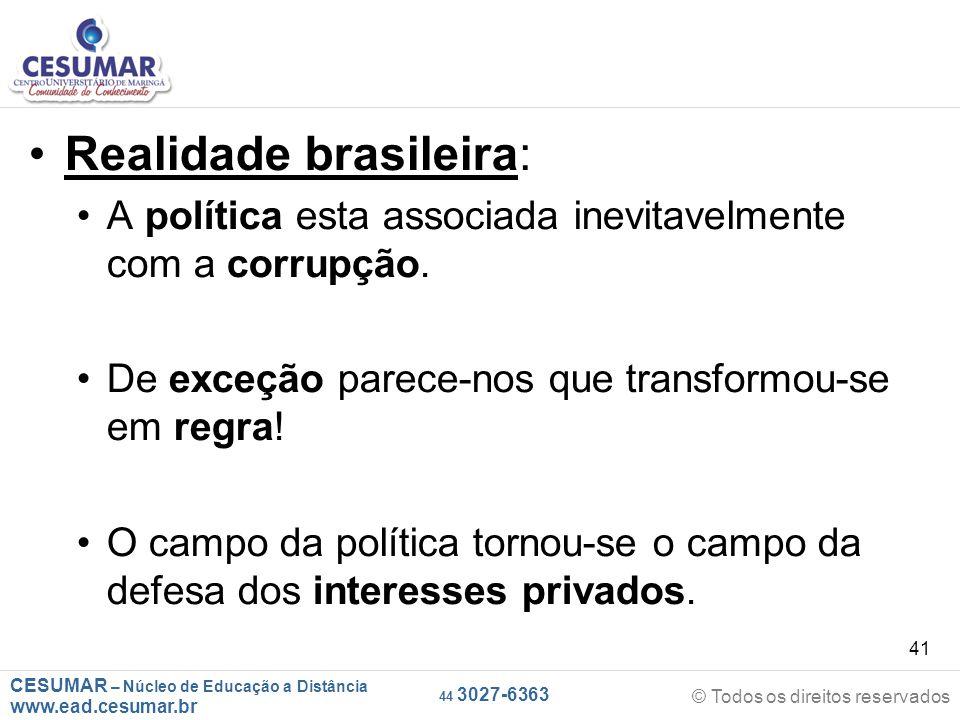 Realidade brasileira: