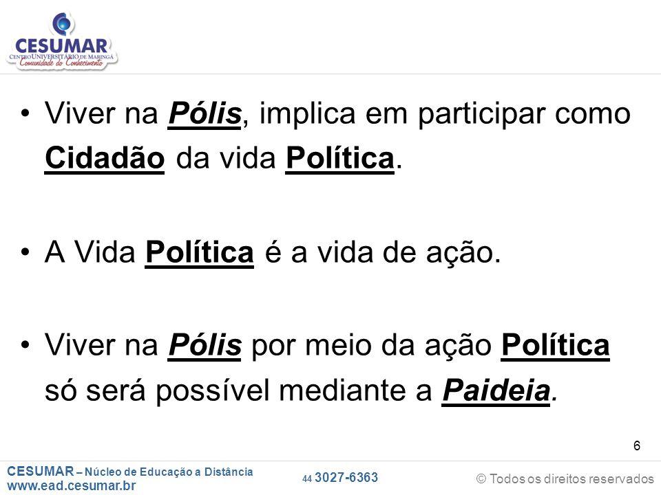 Viver na Pólis, implica em participar como Cidadão da vida Política.