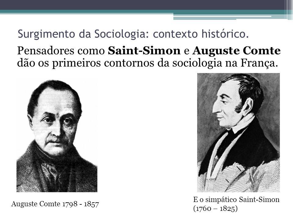 Surgimento da Sociologia: contexto histórico.