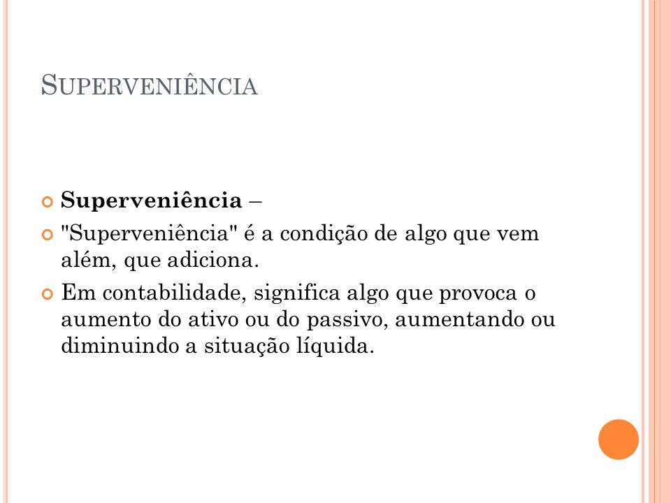 Superveniência Superveniência –